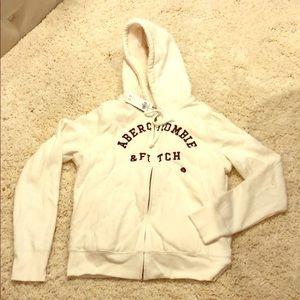New Abercrombie hoodie sweatshirt small Sherpa